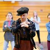 BEN GARVER — THE BERKSHIRE EAGLE<br /> Kenneth Marez, who uses the stage name Ken Fury, teaches hip-hop moves to students at Mount Everett Regional High School in Sheffield in a Mahaiwe sponsored hip-hop collaborative.