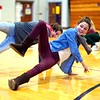 BEN GARVER — THE BERKSHIRE EAGLE<br /> Honey Fields works on her  hip-hop moves in class at Mount Everett Regional High School in Sheffield in a Mahaiwe sponsored hip-hop collaborative.