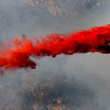 A slurry bomber drops flame retardant on the Lefthand Canyon Fire near Boulder Colorado on Friday March 11, 2011<br /> Photo by Paul Aiken / The Boulder Camera
