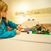 KRISTOPHER RADDER — BRATTLEBORO REFORMER<br /> Lilly Suponski, 8, sets up a Lego creation during the turn in for the 12th annual Lego Contest & Exhibit at Brattleboro Museum & Arts Center on Tuesday, Nov. 5, 2019. An opening reception and awards ceremony will take place Thursday, Nov. 7, at 6 p.m.
