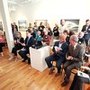 BEN GARVER — THE BERKSHIRE EAGLE<br /> A large crowd attended the Massachusetts Cultural Council's official announcement that Lenox has been designed as the state's 48th Cultural District, At Sohn fine Art Gallery, Monday September 9, 2019.