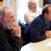BEN GARVER — THE BERKSHIRE EAGLE<br /> The Lenox Select Board listens to testimony regarding the danger of the Hubbard Street Intersection with Routes 7/20.  A special meeting was called to close the intersection after a fatal accident. Wednesday, December 19, 2018. Left to right: Dave Roche, Ken Fowler and Warren Archey.