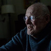 KRISTOPHER RADDER — BRATTLEBORO REFORMER<br /> Jonathan Tobey, a man with dementia, smiles as he thinks about the turkeys that visited his yard.