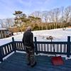 KRISTOPHER RADDER — BRATTLEBORO REFORMER<br /> Jonathan Tobey looks out into his backyard as he checks for the turkeys on Feb. 22, 2019.