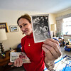 KRISTOPHER RADDER — BRATTLEBORO REFORMER<br /> Katie Tobey holds up a photo of her father and his twin brother.