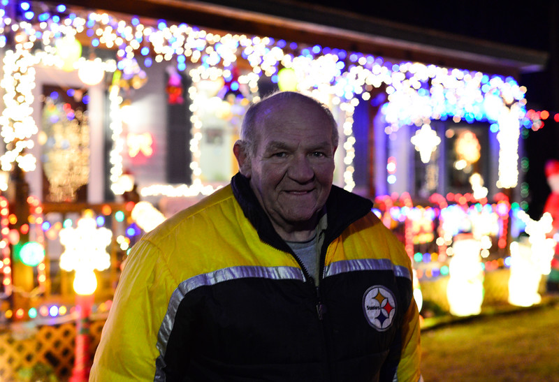 Gary Castine, of Dummerston, Vt., spends nearly 45-50 hours putting up his lights.