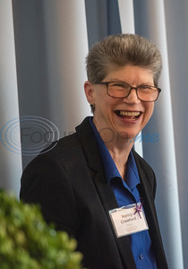 LCOT executive director Nancy Crawford smiles at the podium during the Literacy Council of Tyler Donor Appreciation Luncheon held on Jan. 29, 2020 at Willow Brook County Club.   (Sarah A. Miller/Tyler Morning Telegraph)