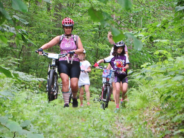 In the Little Bellas program, learning the trails and terrain is a key part for teaching girls how to be comfortable with mountain biking.