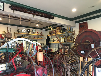 ASHLEY FOX / GAZETTE Inside The Little Wiz Fire and Historic Medina Museum located at 326 E. Smith Road, visitors can see fire fighting apparatus from as far back as the 1860s.