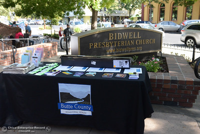 "Butte County Behavioral Health and other organizations that work closely with homeless people are represented as Lloyd Pendleton, a prominent ""housing first"" advocate for homeless people, speaks to members of the Chico community Monday, Oct. 10, 2016,  at Bidwell Presbyterian Church in Chico, California. (Dan Reidel -- Enterprise-Record)"