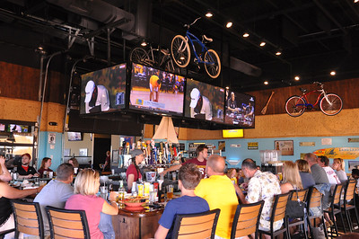 ASHLEY FOX / GAZETTE Cleveland Cavaliers fans ventured out to On Tap Bar & Grille at 2736 Medina Road on Sunday night to watch Game 7 of the NBA Finals.