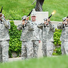 Globe/T. Rob Brown<br /> The Frontenac American Legion Rifles give the Firing of Honors during Memorial Day at the Memorial, Monday, May 27, 2013, at the Veterans Memorial Amphitheater in Pittsburg, Kan.