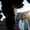 Comilla Sasson, MD, MS, gives a press conference in front of the University of Colorado Hospital in Aurora on Friday morning, July, 19, 2012 after a shooting at an Aurora movie theatre during a perimeter showing of the new Batman movie where 12 people were fatally shot and about 50 people were shot and wounded and taken to hospitals around the Denver area.<br /> Heather Rousseau, The Denver Post