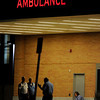 Personnel gather outside the emergency room at Children's Hospital in Aurora, CO, Friday, July 20, 2012. Fourteen people were killed and about 50 were injured early Friday when shots rang out at an Aurora movie theater during a premiere showing of the new Batman movie. Craig F. Walker, The Denver Post