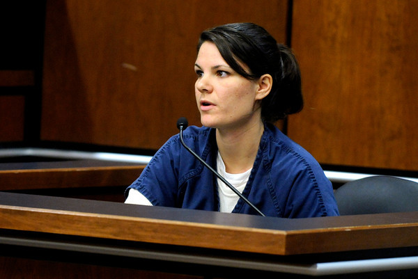 Molly Bowers, formerly Molly Midyette, testifies during her hearing at the Boulder County Justice Center on November 1, 2011. Photo by Paul Aiken