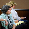 Kay Midyette takes notes during Molly Bowers, (formerly Molly Midyette) testimony at the Boulder County Justice Center on November 1, 2011. Photo by Paul Aiken
