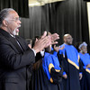 "Pastor Bruce Merriweather, left, sings with the Second Baptist Church Shekina Glory Choir during the Martin Luther King Jr. March for Peace event on Monday, Jan. 21, at Pioneer Bilingual Elementary School in Lafayette. For more photos and video of the event go to  <a href=""http://www.dailycamera.com"">http://www.dailycamera.com</a><br /> Jeremy Papasso/ Camera"