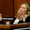 Christine Jordan testifies about an evening she and her boyfriend spent with Molly and Alex Midyette on the couple's anniversary during Molly Bowers hearing on Wednesday November 16, 2011 at the Boulder County Justice Center. Bower's formerly Molly Midyette is requesting a new trial in the death of her son.<br /> Photo by Paul Aiken / The Camera