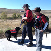 "Jessica Ridgeway dog.jpg Two search and rescue workers gave this dog an item to smell in a baggie and said ""go find Jessica"", as the search for Jessica Ridgeway, the missing 10-year-old from Westminster, continued in Superior on Monday, Oct. 8, 2012. John Aguilar photo"