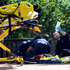 Possible Drowning Victim at Kids' Fishing Pond8.JPG A man who appeared to be in his mid-50s was pulled from Boulder Creek behind the Boulder County Justice Center this afternoon and transported to Boulder Community Hospital in what police are calling a possible drowning.<br /> Cliff Grassmick / October 7, 2011