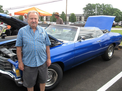 BOB SANDRICK / GAZETTE Julius Lock of Parma entered his 1972 Chevrolet Chevelle in the Mapleside Farms car show on Sunday.
