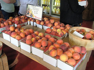 BOB SANDRICK / GAZETTE Redhaven peaches are shown Sunday as a big draw to a Mapleside Farms event in Brunswick.