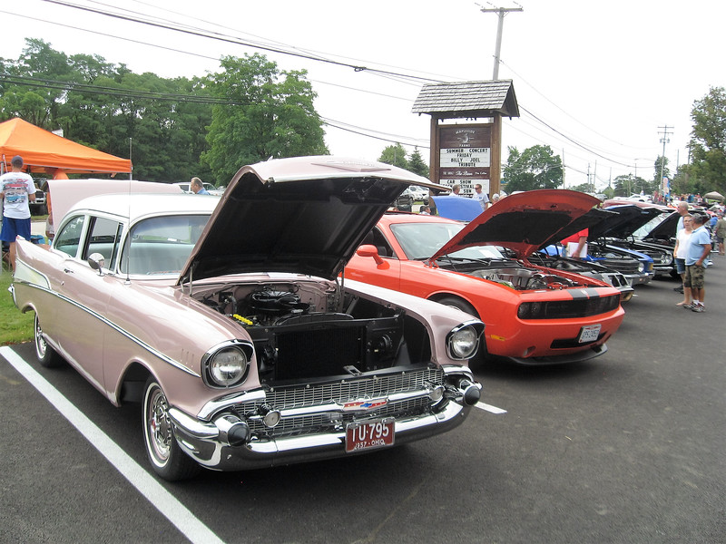 BOB SANDRICK / GAZETTE More than 60 classic and antique cars are part of a car show Sunday at Mapleside Farms in Brunswick.