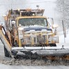 BEN GARVER — THE BERKSHIRE EAGLE<br /> A plow passes on Main Street in West Stockbridge, Friday, March 2, 2018.