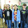 Chemistry students participated in the American Chemical Society Scholarship Exam on Saturday, March 2. ZCHS first year chemistry students placed second overall in the contest. First year students receiving honorable mention were Kevin Claps, Will Cunningham, Zach Neumann, Teresa Ortyl and Robert Shrote. First year student Amy Zhou was the individual winner on the exam and will receive a $1,000 scholarship and a book. Second year chemistry students receiving honorable mention were Rachel Miller and Nick Perkins. Pictured are front row: Teresa Ortyl, Amy Zhou and Zach Neumann; back row: Nick Perkins, Rachel Miller, Kevin Claps, Will Cunningham and Robert Shrote.