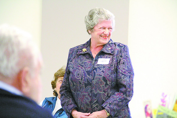 Reporter photo by Sarah Lang<br /> Bonnie Klingler, of Zionsville, was given the Outstanding Older Hoosier award Wednesday afternoon at the quarterly meeting of the Boone County Council on Aging at Boone County Senior Services.