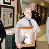Reporter photo by Rod Rose<br /> Lebanon Police Sgt. Ben Phelps (left); Gary Davies; Boone County Sheriff Major Mike Nielsen, and Ball State University junior David Blankenship answer media questions at a press conference Monday.
