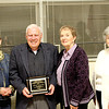 Reporter photo<br /> Recipients of the Distinguished Agricultural Career awards presented by the Boone County Breeders & Feeders Association Thursday were (from left) Stan Rader, with wife, Betty; Bob Lamb, with wife, Dianna, and Aaron Everett, with wife, Carolyn.