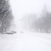 RICHARD LINDSAY - THE BERKSHIRE EAGLE<br /> Nearly desolate Main Street in Stockbridge (looking West) mid morning on Tuesday during the Blizzard of '17.
