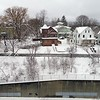 BEN GARVER — THE BERKSHIRE EAGLE<br /> Jubilee Hill (as seen from the Francis Avenue side) is covered in snow from yesterday's snowstorm.