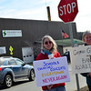 KRISTOPHER RADDER - BRATTLEBORO REFORMER<br /> Janet Wolfe and Beth  Eviti hold their signs up during the March for our Lives Rally in Putney, Vt., on Saturday, March 24, 2018.