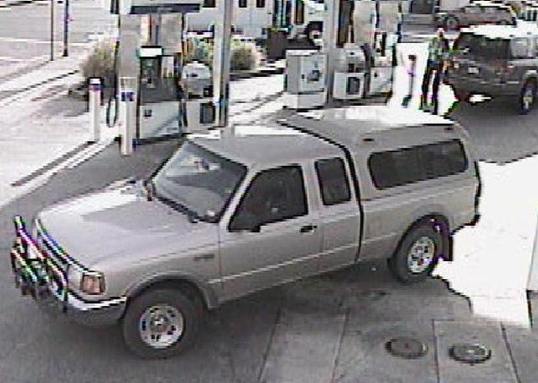 The Sonoma County Sheriff's Office is releasing surveillance photos of persons of<br /> interest in the Forestville triple homicide investigation. Investigators believe these men<br /> and the associated Ford Ranger are possible associates of suspect Mark Cappello and<br /> may have information regarding the homicide. Anyone with information pertaining to<br /> these subjects or the vehicle is asked to contact detectives at 707-565-2185.<br /> <br /> The vehicle is an early 90's Ford Ranger and is gold in color.<br /> <br /> The video is from the Chevron gas station in St. Helena and was taken the day before the<br /> homicide occurred.<br /> <br /> Prepared by Violent Crimes Investigations Sergeant Carlos Basurto 707-565-2185