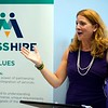 BEN GARVER — THE BERKSHIRE EAGLE<br /> Secretary of Labor and Workforce Development Rosalin Acosta speaks during the launch of MassHire, the commonwealth's united workforce brand, formerly known as BerkshireWorks.
