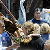 Globe/T. Rob Brown<br /> President Barack Obama speaks to tornado victims Sunday afternoon, May 29, 2011, near Joplin High School.