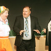 "Globe/Roger Nomer<br /> Stephen Biddle, played by Doug Dickey, tries to break up a fight between Dolly Biddle, played by Betty Bell, left, and Isobel Lomax, played by Betsy Fleischaker, in a scene from ""Kitchen Witches"" at the Stone's Throw Theater."