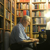 "Globe/Roger Nomer<br /> Hubert Bird plays a selection from ""The Other Side of Storm"" on Thursday afternoon."