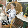 Globe/Roger Nomer<br /> Carolyn Lehar said she and her dog Toi have found a home at the Redwood Gardens after living in a FEMA trailer following the tornado.