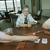 Globe/Roger Nomer<br /> Carolyn Lehar, center, plays a game of Jokers with Esther Koop, left, and Virginia Parker at the clubhouse in Redwood Gardens.