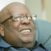 Globe/Roger Nomer<br /> Life-long Joplin resident Russell England is seeking a ticket to Joplin High's graduation to see President Obama.
