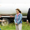 Globe/T. Rob Brown<br /> Derek Morris, of Weir, Kan., oil producer, left, speaks to U.S. Reps. Lynn Jenkins (Kan.) Billy Long (Mo.) about domestic oil near a tanker truck on a property 14 miles west of Girard, Kan., Thursday afternoon, May 24, 2012.