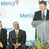 Globe/Roger Nomer<br /> Chief Operating Officer Mike McCurry laughs with Sen. Roy Blunt and UAE Ambassador Yousef Al Otaiba on Friday.