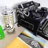 Globe/T. Rob Brown<br /> An antique typewriter and Route 66 items in the lobby of the Boots Motel in Carthage Tuesday morning, May 1, 2012, at the Route 66 landmark.