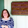Jen Pendleton, executive director of the Community Foundation of Boone County, poses Thursday morning, May 2, outside the foundation's office, 60 E. Cedar St. Pendleton was named the new director Wednesday, May 1.