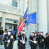 The Zionsville Police Department honor guard opens a ceremony commemorating law enforcement officers who have died in the line of duty, Wednesday at the Boone County Courthouse.