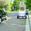 A car obeys the speed limit on Main Street Thursday morning, May 9. Police are adding additional enforcement to the Village area to enforce speed zones.