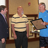 "Lebanon Icon Has Part Of I-65 Named In His Honor<br /> By Jake Thompson<br /> FOREVER RECOGNIZED: Former Lebanon High School basketball legend, and Purdue University star, Rick Mount was honored at Monday night's Board of Works meeting. District 41 State Representative Tim Brown (middle) presents Mount (left) with a plaque of a formal statehouse resolution that names part of I-65 near Lebanon after him. ""INDOT will be naming (south) mile marker138 to (north) mile marker 141 in your honor,"" said Mayor Matt Gentry (left). Mount, a 1966 Lebanon graduate, spoke to those in attendance about people asking him about Steve Alford and Larry Bird having streets named after them and his reply was ""maybe when I get older."" ""It's been 50 years of mayors in Lebanon and finally a Purdue guy, Matt Gentry was named mayor of Lebanon and he came through for me,"" said Mount while his son and grandchildern watched from their seats.""I appreciate it, thank you, love Lebanon."" Mount was the first high school athlete to be on the cover of Sports Illustrated."